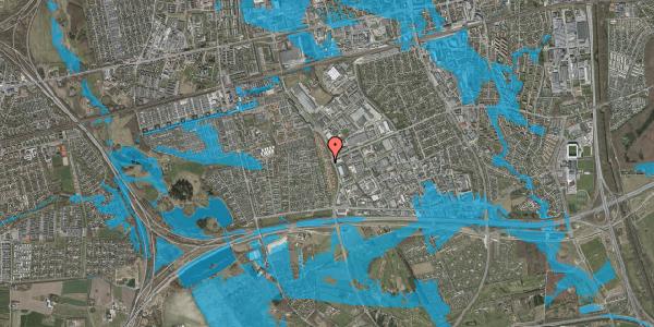 Oversvømmelsesrisiko fra vandløb på Nordmarksvænge 5, 2625 Vallensbæk