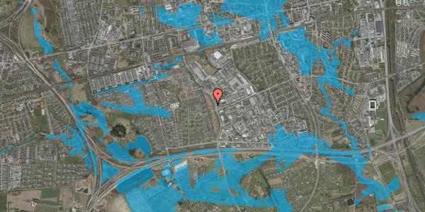 Oversvømmelsesrisiko fra vandløb på Nordmarksvænge 8, 2625 Vallensbæk