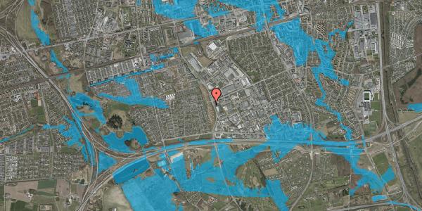 Oversvømmelsesrisiko fra vandløb på Nordmarksvænge 9, 2625 Vallensbæk