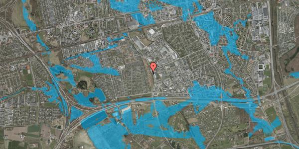 Oversvømmelsesrisiko fra vandløb på Nordmarksvænge 13, 2625 Vallensbæk