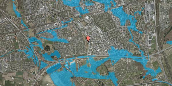 Oversvømmelsesrisiko fra vandløb på Nordmarksvænge 15, 2625 Vallensbæk