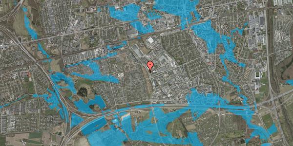 Oversvømmelsesrisiko fra vandløb på Nordmarksvænge 16, 2625 Vallensbæk