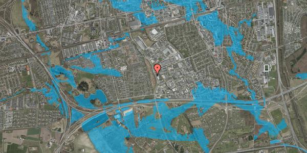 Oversvømmelsesrisiko fra vandløb på Nordmarksvænge 17, 2625 Vallensbæk