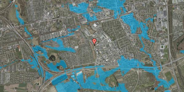 Oversvømmelsesrisiko fra vandløb på Nordmarksvænge 18, 2625 Vallensbæk