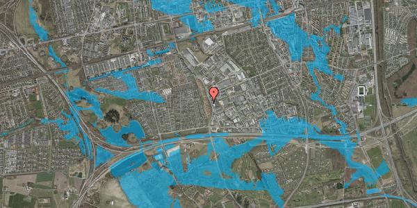 Oversvømmelsesrisiko fra vandløb på Nordmarksvænge 19, 2625 Vallensbæk
