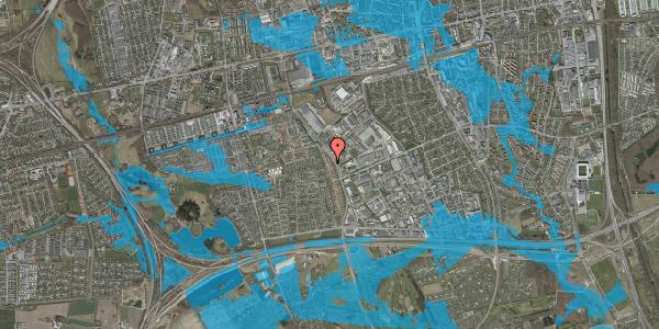 Oversvømmelsesrisiko fra vandløb på Nordmarksvænge 20, 2625 Vallensbæk