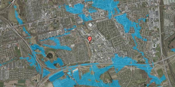 Oversvømmelsesrisiko fra vandløb på Nordmarksvænge 22, 2625 Vallensbæk