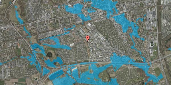 Oversvømmelsesrisiko fra vandløb på Nordmarksvænge 24, 2625 Vallensbæk