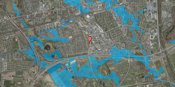 Oversvømmelsesrisiko fra vandløb på Nordmarksvænge 27, 2625 Vallensbæk