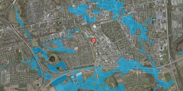 Oversvømmelsesrisiko fra vandløb på Nordmarksvænge 28, 2625 Vallensbæk