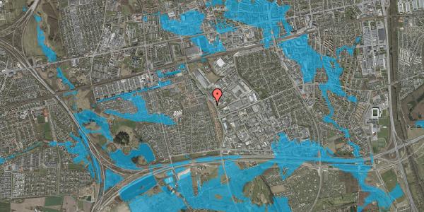 Oversvømmelsesrisiko fra vandløb på Nordmarksvænge 30, 2625 Vallensbæk