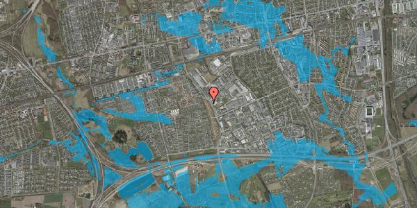 Oversvømmelsesrisiko fra vandløb på Nordmarksvænge 32, 2625 Vallensbæk