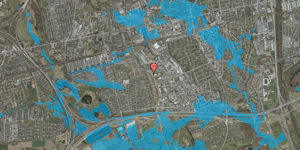 Oversvømmelsesrisiko fra vandløb på Nordmarksvænge 34, 2625 Vallensbæk