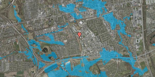 Oversvømmelsesrisiko fra vandløb på Nordmarksvænge 36, 2625 Vallensbæk