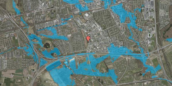 Oversvømmelsesrisiko fra vandløb på Nordmarksvænge 37, 2625 Vallensbæk
