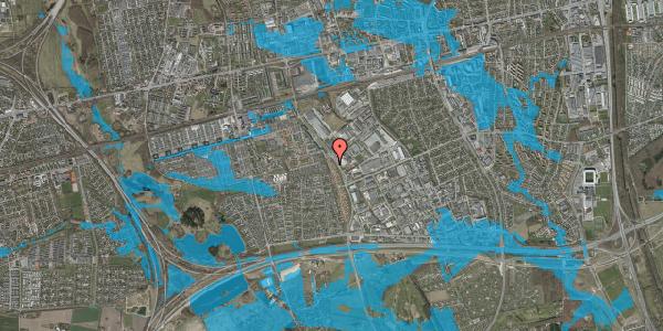 Oversvømmelsesrisiko fra vandløb på Nordmarksvænge 38, 2625 Vallensbæk