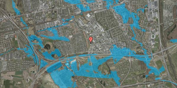 Oversvømmelsesrisiko fra vandløb på Nordmarksvænge 39, 2625 Vallensbæk