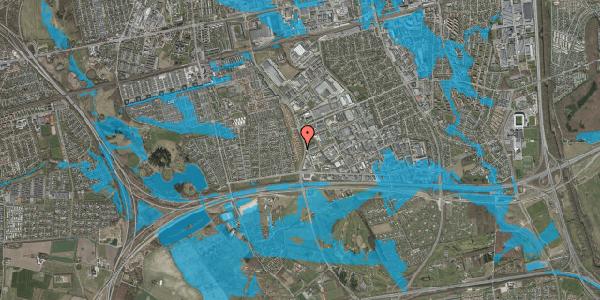 Oversvømmelsesrisiko fra vandløb på Nordmarksvænge 41, 2625 Vallensbæk