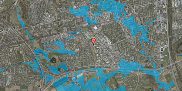 Oversvømmelsesrisiko fra vandløb på Nordmarksvænge 42, 2625 Vallensbæk