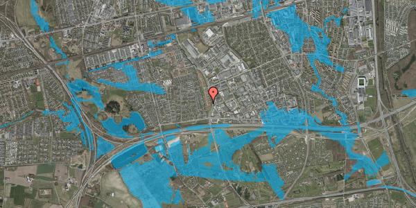 Oversvømmelsesrisiko fra vandløb på Nordmarksvænge 45, 2625 Vallensbæk