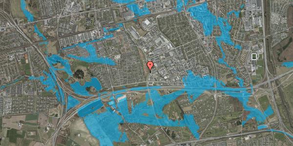 Oversvømmelsesrisiko fra vandløb på Nordmarksvænge 51, 2625 Vallensbæk