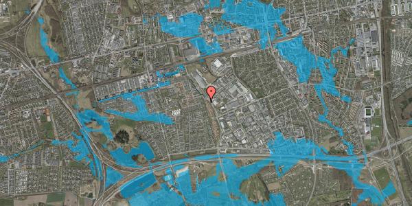 Oversvømmelsesrisiko fra vandløb på Nordmarksvænge 54, 2625 Vallensbæk
