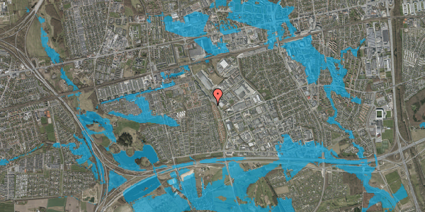 Oversvømmelsesrisiko fra vandløb på Nordmarksvænge 56, 2625 Vallensbæk
