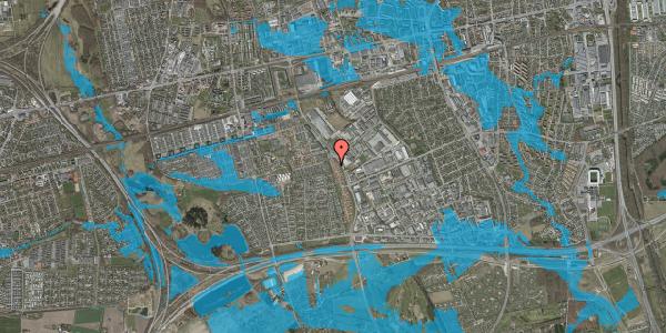 Oversvømmelsesrisiko fra vandløb på Nordmarksvænge 60, 2625 Vallensbæk