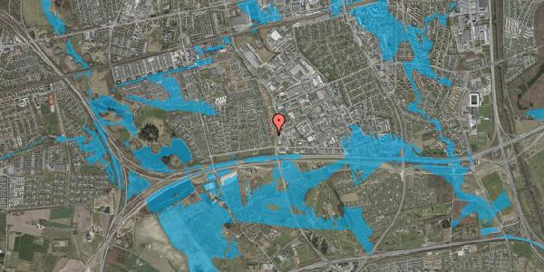 Oversvømmelsesrisiko fra vandløb på Nordmarksvænge 61, 2625 Vallensbæk