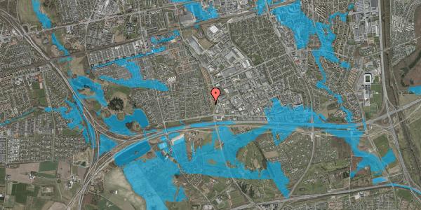 Oversvømmelsesrisiko fra vandløb på Nordmarksvænge 65, 2625 Vallensbæk