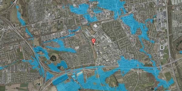 Oversvømmelsesrisiko fra vandløb på Nordmarksvænge 66, 2625 Vallensbæk