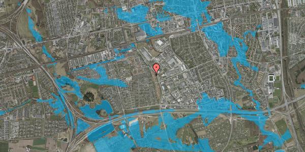 Oversvømmelsesrisiko fra vandløb på Nordmarksvænge 68, 2625 Vallensbæk