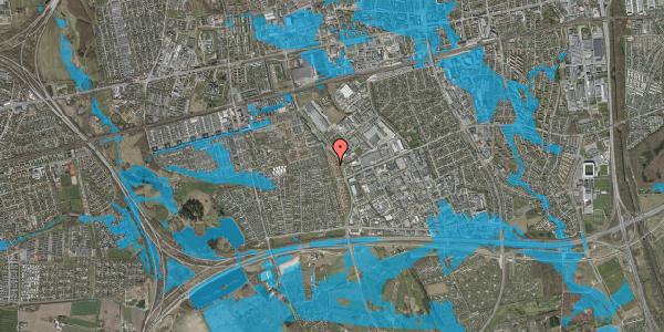 Oversvømmelsesrisiko fra vandløb på Nordmarksvænge 70, 2625 Vallensbæk