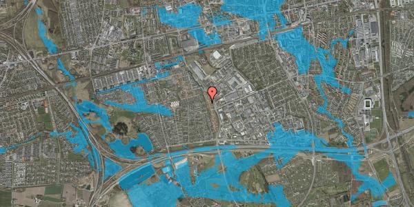 Oversvømmelsesrisiko fra vandløb på Nordmarksvænge 74, 2625 Vallensbæk