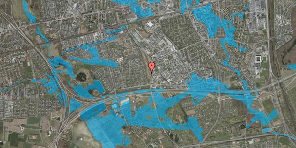 Oversvømmelsesrisiko fra vandløb på Nordmarksvænge 75, 2625 Vallensbæk