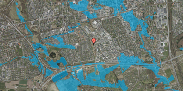 Oversvømmelsesrisiko fra vandløb på Nordmarksvænge 82, 2625 Vallensbæk