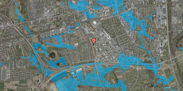 Oversvømmelsesrisiko fra vandløb på Nordmarksvænge 84, 2625 Vallensbæk