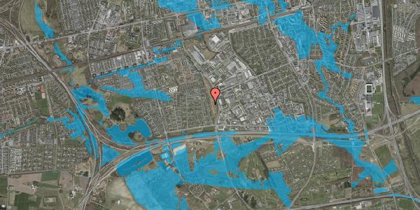 Oversvømmelsesrisiko fra vandløb på Nordmarksvænge 87, 2625 Vallensbæk