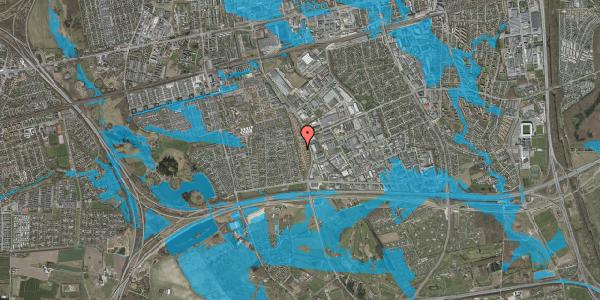 Oversvømmelsesrisiko fra vandløb på Nordmarksvænge 91, 2625 Vallensbæk