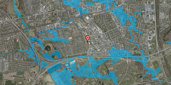 Oversvømmelsesrisiko fra vandløb på Nordmarksvænge 95, 2625 Vallensbæk