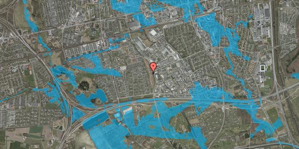 Oversvømmelsesrisiko fra vandløb på Nordmarksvænge 97, 2625 Vallensbæk