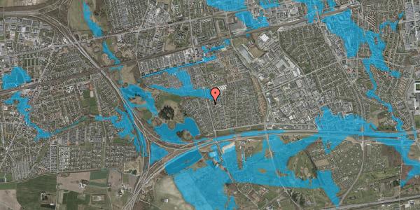 Oversvømmelsesrisiko fra vandløb på Pilehavevænge 1, 2625 Vallensbæk