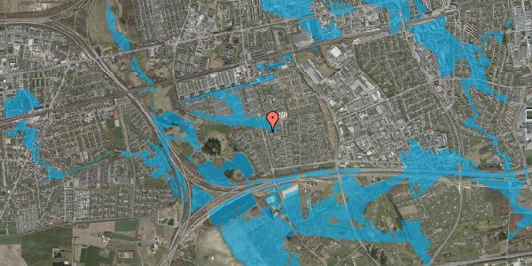 Oversvømmelsesrisiko fra vandløb på Pilehavevænge 7, 2625 Vallensbæk
