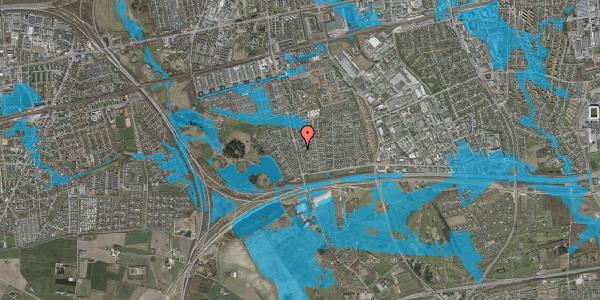 Oversvømmelsesrisiko fra vandløb på Pilehavevænge 14, 2625 Vallensbæk