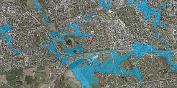 Oversvømmelsesrisiko fra vandløb på Pilehavevænge 18, 2625 Vallensbæk