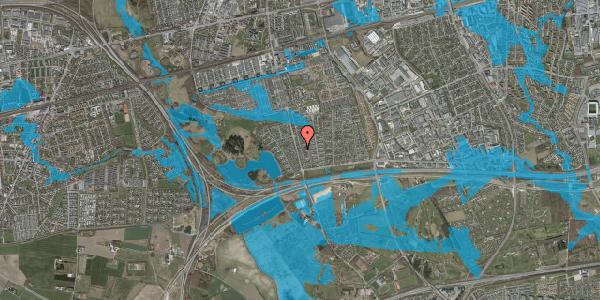 Oversvømmelsesrisiko fra vandløb på Pilehavevænge 20, 2625 Vallensbæk