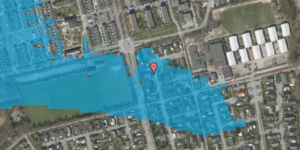 Oversvømmelsesrisiko fra vandløb på Pilehavevænge 25, 2625 Vallensbæk