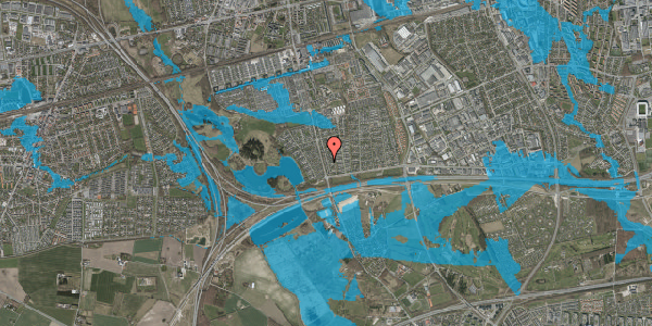 Oversvømmelsesrisiko fra vandløb på Pilehavevænge 30, 2625 Vallensbæk