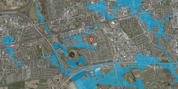 Oversvømmelsesrisiko fra vandløb på Pilehavevænge 33, 2625 Vallensbæk