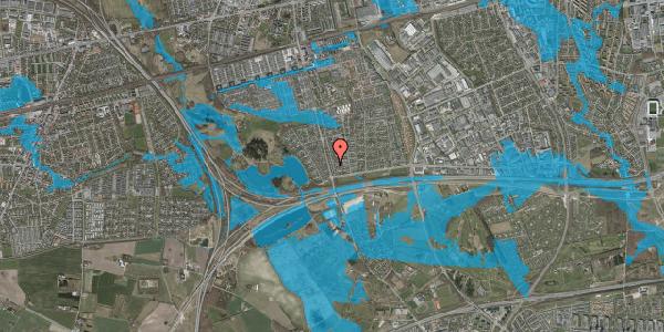 Oversvømmelsesrisiko fra vandløb på Pilehavevænge 34, 2625 Vallensbæk